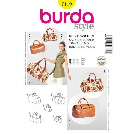 Patron Burda Style 7119 Sacs de Voyage