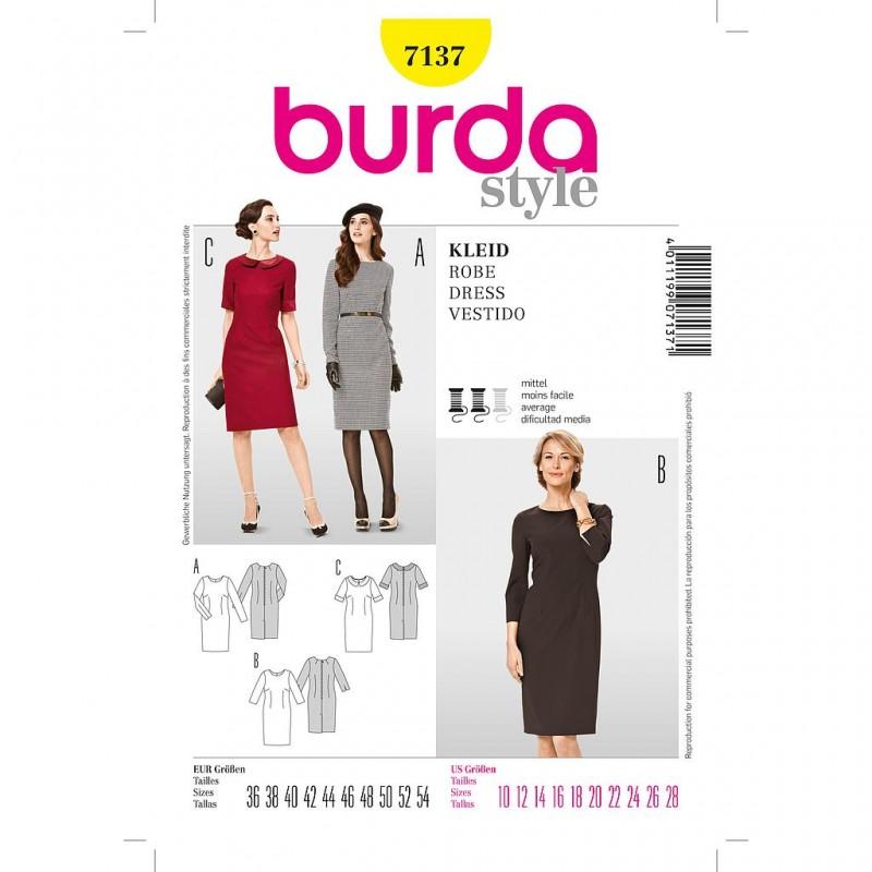 Patron Burda Style 7137 Robe 36/54