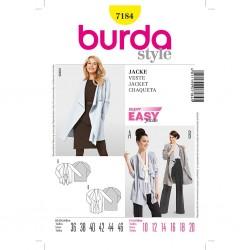 Patron Burda Style 7184 Veste 36/46