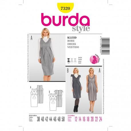 Patron Burda Style 7320 Robe Décolletée 38/50