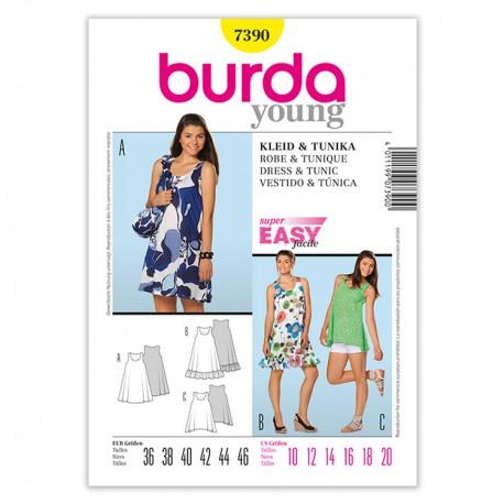 Patron Burda Style 7390 Young Robe et Tunique 36/46