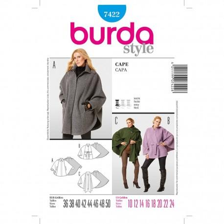 Patron Burda Style 7422 Cape 36/50