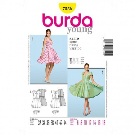 Patron Burda Style 7556 Robe 32/44
