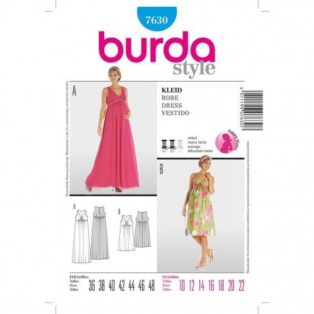 Patron Burda Style 7630 Robe Femme Enceinte 36/48
