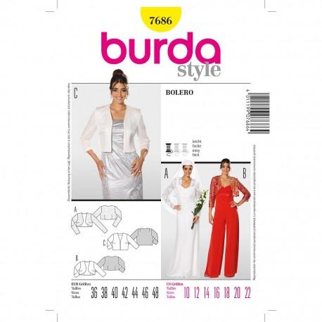 Patron Burda Style 7686 Boléro 36/48