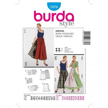 Patron Burda Style 7870 Dirndl 38/56
