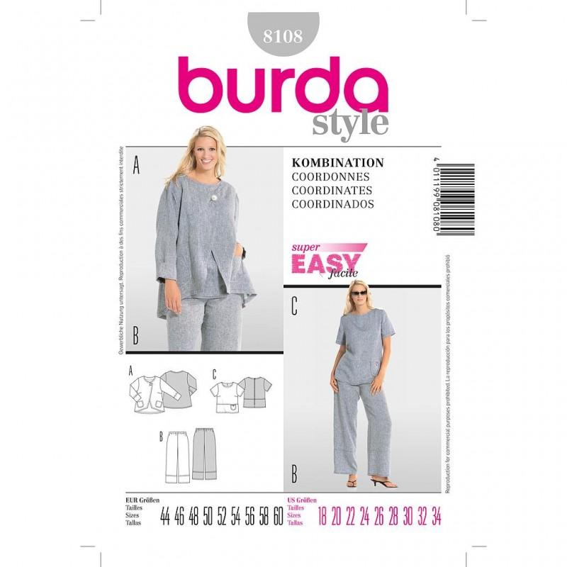 Patron Burda Style 8108 Ensemble 44/60