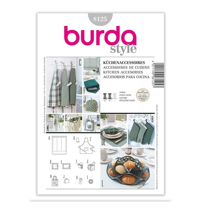 Patron Burda Créative 8125 Accessoires pour la cuisine