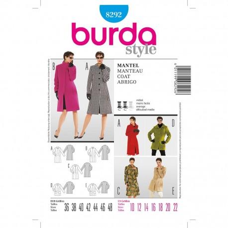 Patron Burda Style 8292 Manteau 36/48