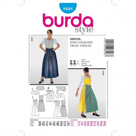 Patron Burda Style 8448 Ensemble Bavarois 38/54