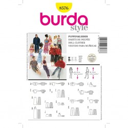 Patron Burda Style 8576 Vêtements de poupée
