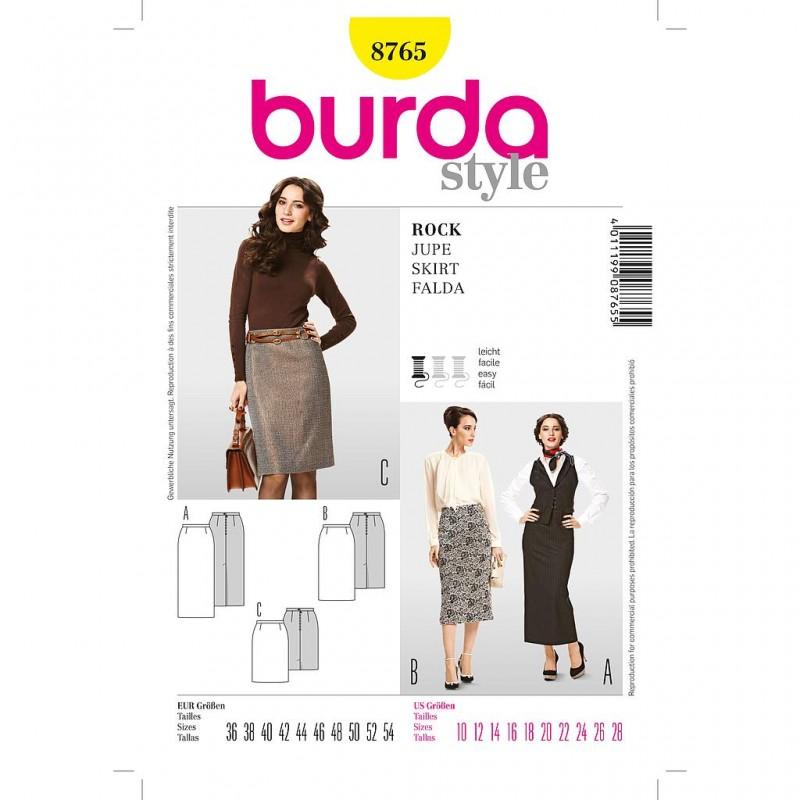 Patron Burda Style 8765 Jupe 36/54