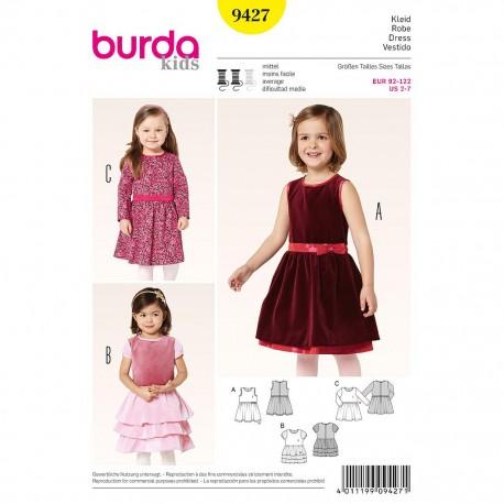 Patron Burda Kids 9427 Robe 92/122CM