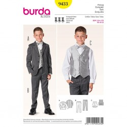 Patron Burda Kids 9433 Ensemble Costume 134/170