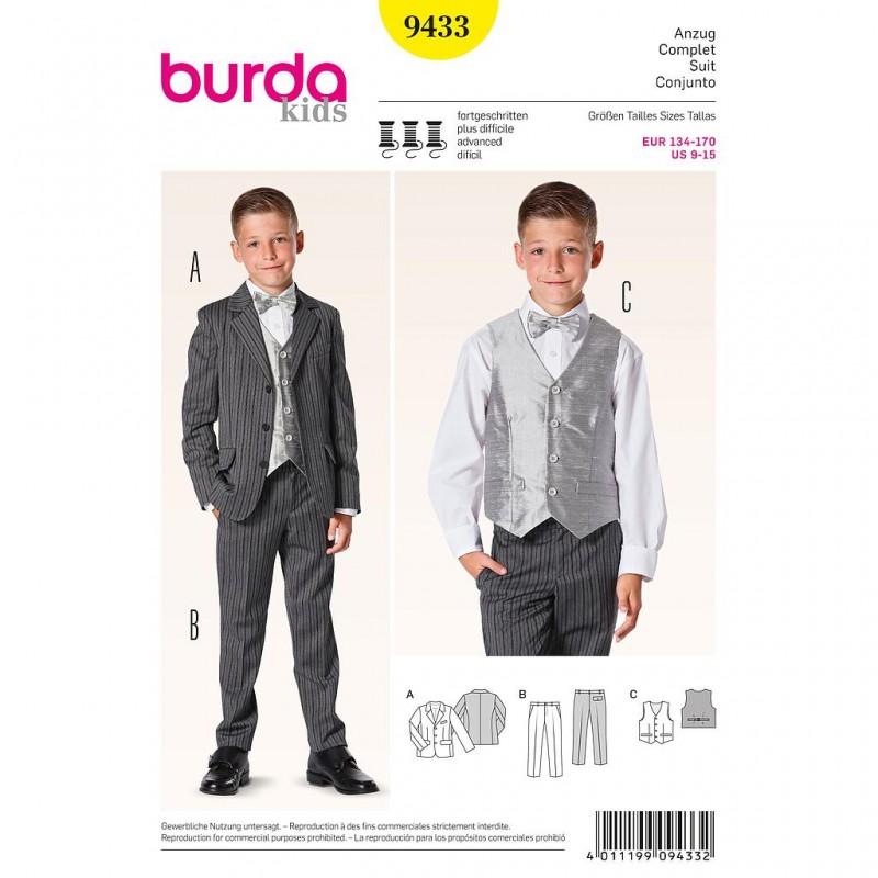 Patron Burda Kids 9433 Ensemble Costume 134/170