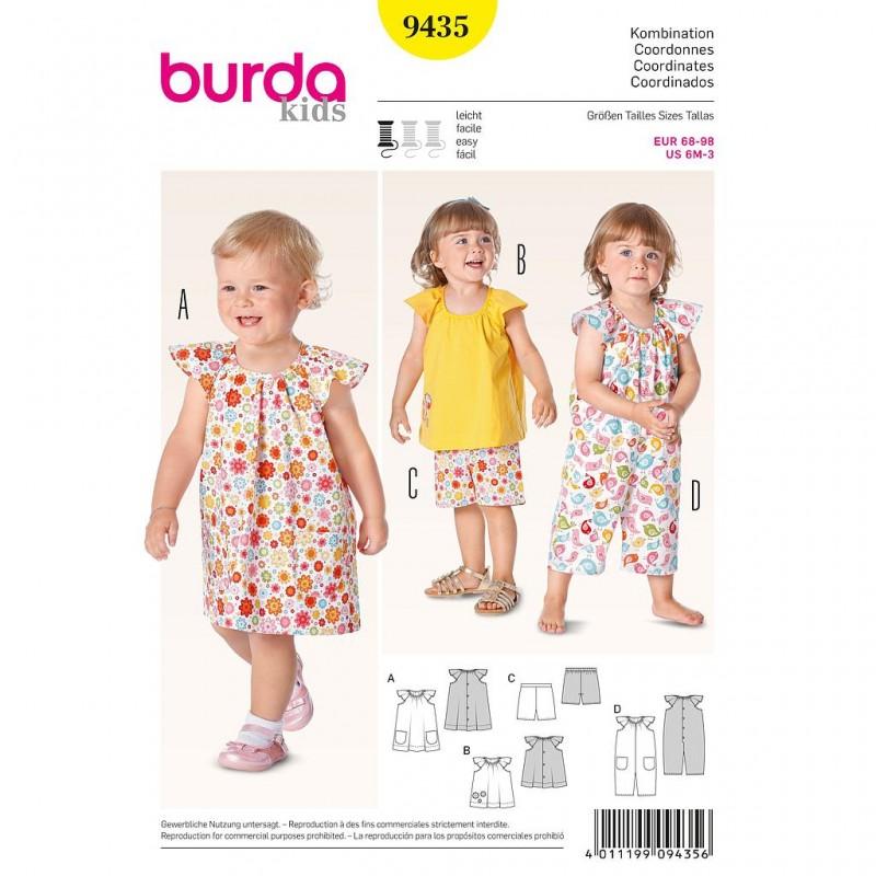 Patron Burda Kids 9435 Coordonnées 68/98