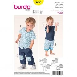 Patron Burda Kids 9436 Coordonnées 68/98