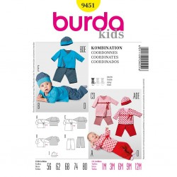 Patron Burda Kids 9451 Coordonnés 56/80