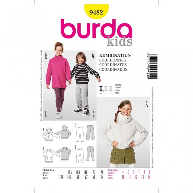 Patron Burda Kids 9482 Coordonnés 104/164