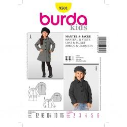 Patron Burda Kids 9501 Manteau et Veste 92/116