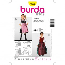 Patron Burda Kids 9509 Robe Folklore 104/140
