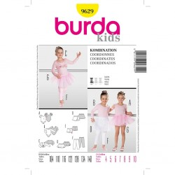 Patron Burda Kids 9629 Body Tutu Caleçon 104/140