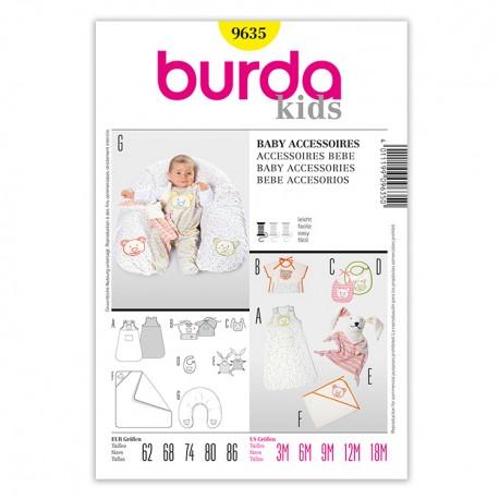 Patron Burda Kids 9635 Accessoires Bébé 62/86