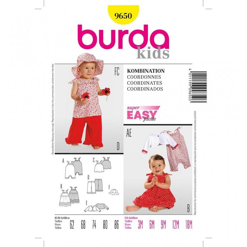 Patron Burda Kids 9650 Coordonné 62/86