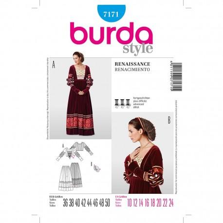 Patron Burda Style 7171 Historique Robe 36/50