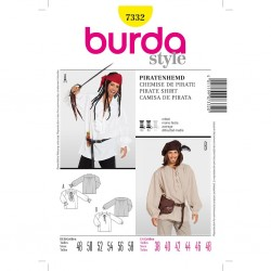 Patron Burda Style 7332 Historique Chemise de Pirate 48/58
