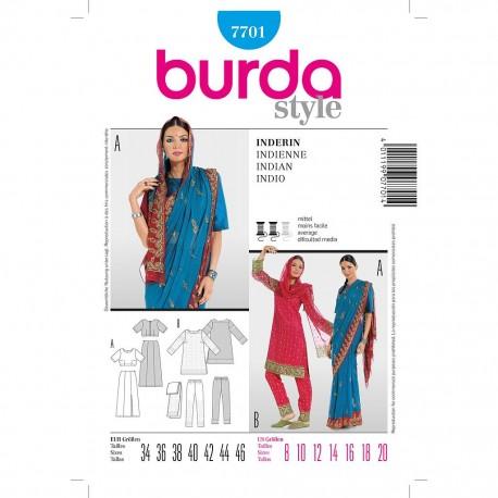 Patron Burda Style 7701 Historique Indienne 34/46