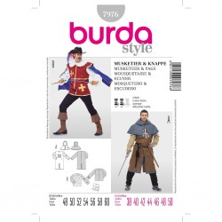 Patron Burda Historique 7976Mousquetaire Ecuyer 48/60