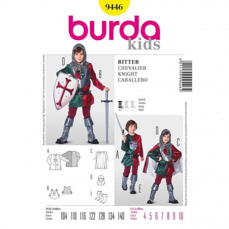 Patron Burda Historique 9446 Chevalier 104/140