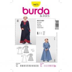 Patron Burda Historique 9473 Robe 98/158