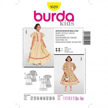 Patron Burda Historique 9529 Robe Style Louis Philippe 122/164