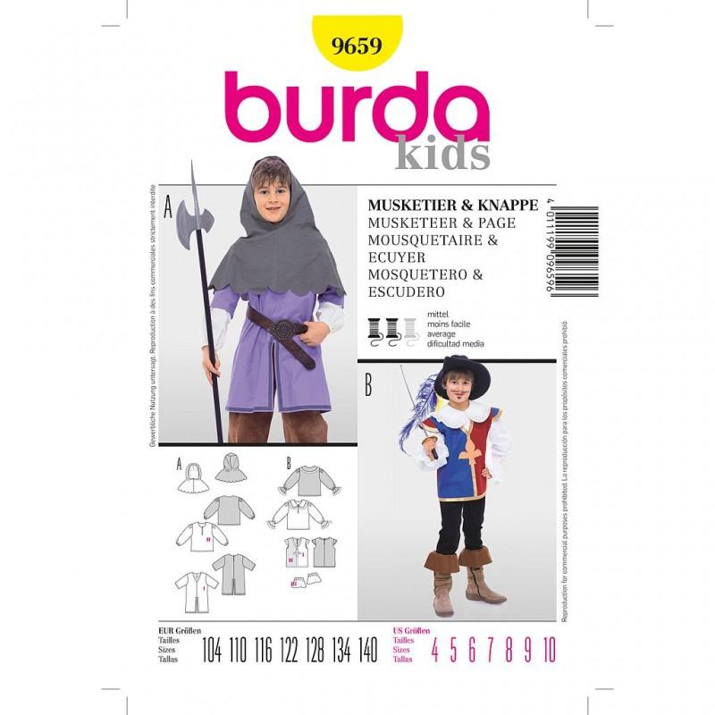 Patron Burda Historique 9659 Mousquetaire Ecuyer 114/140