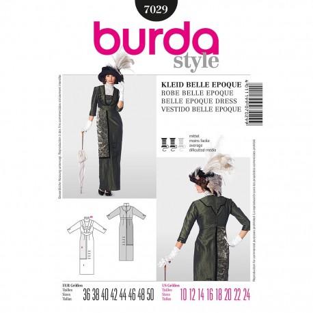 Patron Burda Style 7029 Robe Belle Epoque 36/50