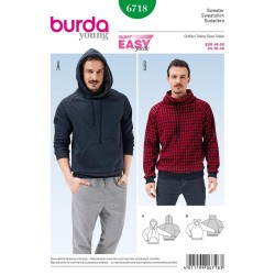 Patron Burda Style 6718 Sweatshirt 46/56