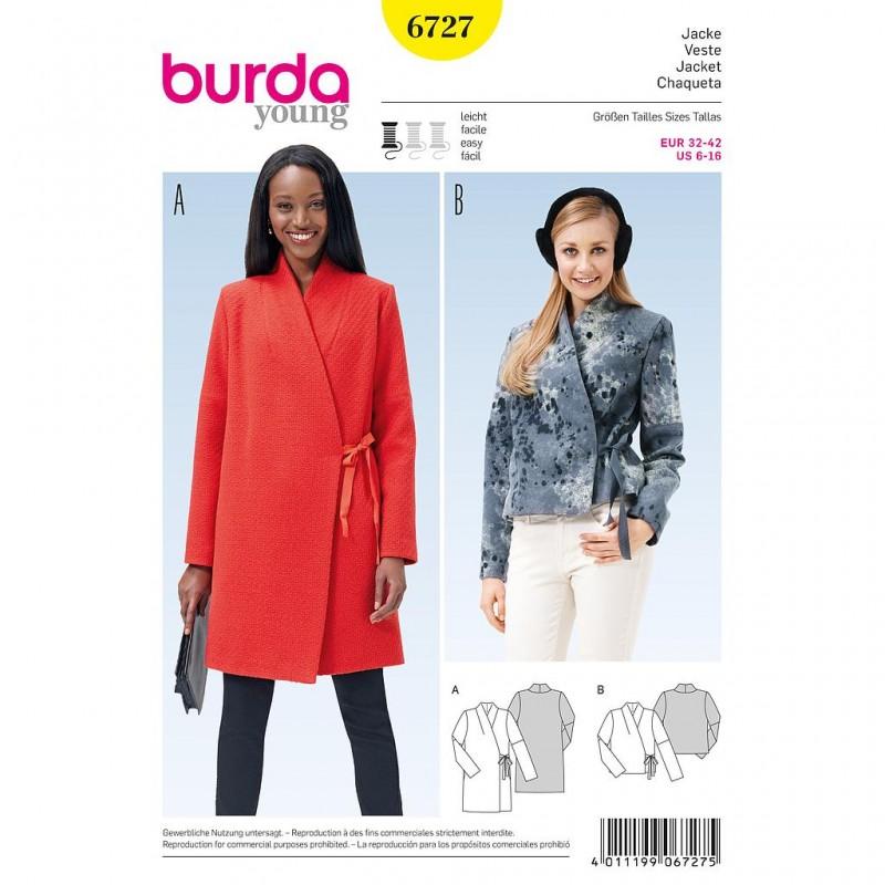 Patron Burda Style 6727 Veste 32/42