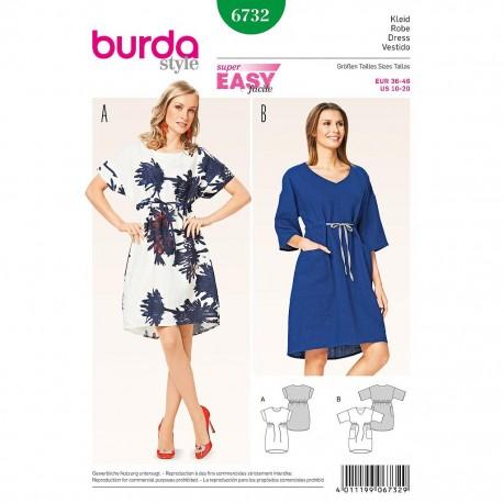 Patron Burda Style 6732 Robe 36/46
