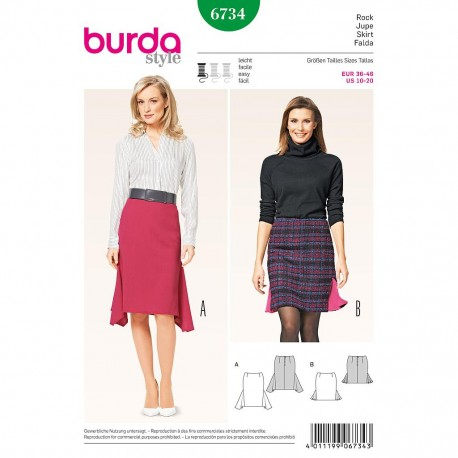 Patron Burda Style 6734 Jupe 36/46