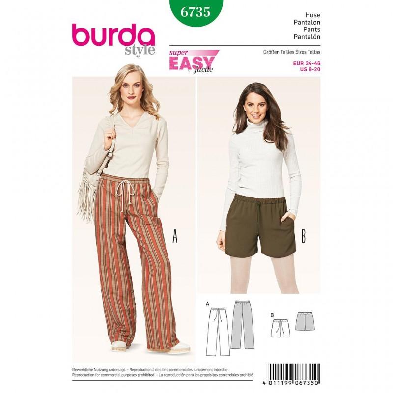 Patron Burda Style 6735 Pantalon 34/46