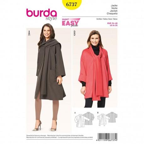 Patron Burda Style 6737 Veste 34/46