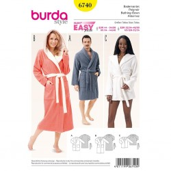 Patron Burda Style 6740 Peignoir 32/50