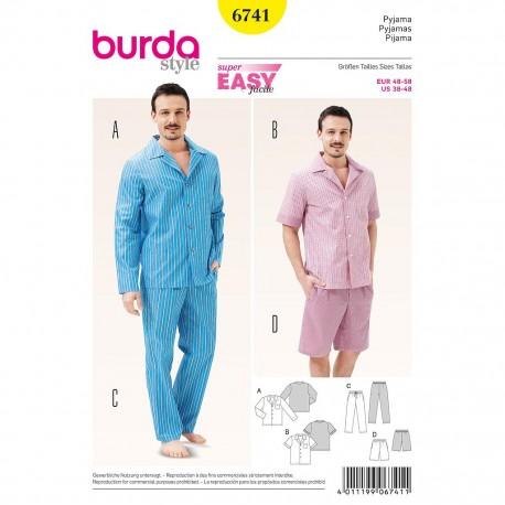 Patron Burda Style 6741 Pyjama 48/58