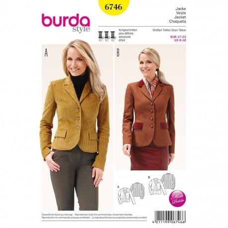 Patron Burda Style 6746 Veste 17/22