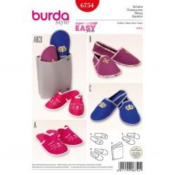 Patron Burda Style 6754 Pantoufles S/L