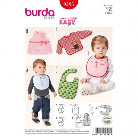 Patron Burda Kids 9395 Bavoir