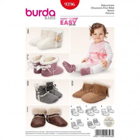 Patron Burda Kids 9396 Chaussons pour Bébé
