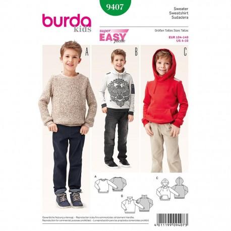 Patron Burda Kids 9407 Sweatshirt 104/140
